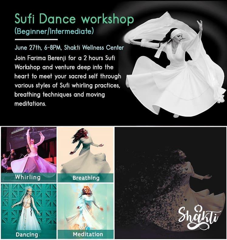 Sufi Dance Workshop (Beginner/Intermediate) - Farima Dance